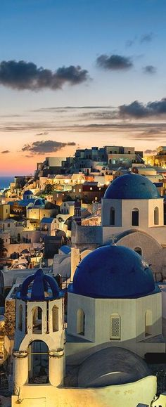 Twilight in Santorini.