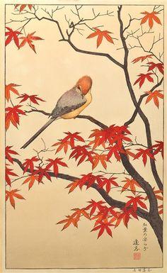Toshi Yoshida, Serenity of Red Maple