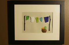 Beach Glass Art - Laundry Day - Multi Color