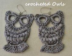 Crocheted Owl Earrings - Eustaquio Geiszler Job have you seen these? Crocheted Owl Earrings - Eustaquio Geiszler Job have you seen these? Crochet Owls, Thread Crochet, Crochet Crafts, Crochet Yarn, Yarn Crafts, Crochet Projects, Crochet Earrings Pattern, Crochet Necklace, Bead Earrings