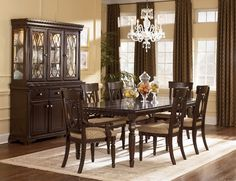 Having an elegant dining room, be sure to buy the Ashley Furniture Dining Room Sets to help you achieve the look you desire. Dining Room Wall Decor, Dining Room Furniture Sets, Cheap Dining Room Sets, Elegant Dining Room, Dining Room Design, Ashley Furniture Dining Room, Formal Dining Room Sets, Modern Dining Room Set, Affordable Dining Room Sets