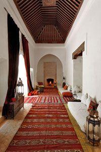 Slatted zouaki ceiling in Riad Berbere