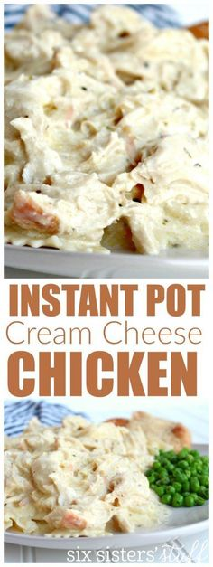 Instant Pot Cream Cheese Chicken from SixSistersStuff.com | Quick & Easy Dinner Recipes | Kid Approved Meal Ideas | Chicken Breast Recipe