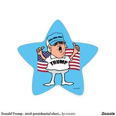 Donald Trump. 2016 presidential election Star Sticker