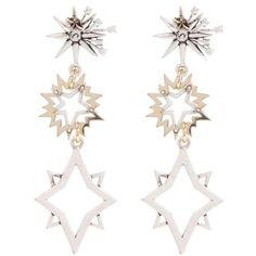 Cosmic Drop Earrings Lulu Frost Liberty (12,560 PHP) ❤ liked on Polyvore featuring jewelry, earrings, lulu frost jewelry, lulu frost, lulu frost earrings, drop earrings and cosmic jewelry