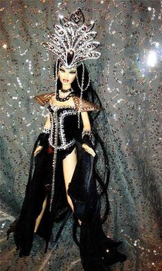 Queen of the Vampires Dark Mistress Vamp Goth Gothic Ghoul Dark~Barbie doll OOAK