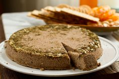 Herb-Crusted Peppercorn Lentil-Nut Pâté. Appetizer or Vegan Entree.