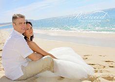 Destination Wedding  Cabo San Lucas  Bride & Groom on beach  Trash The Dress
