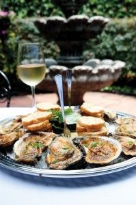 Char Grilled Oysters | Mardi Gras Fare Drink Recipes, Cooking Recipes, Grilled Oysters, Char Grill, Food Items, Mardi Gras, Seafood, Grilling, Food And Drink