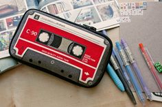 Tape Cassette Butterfly Pencil Pouch