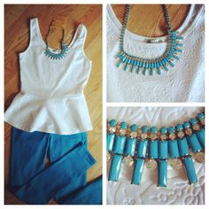 Cloud 9 Tank! $12 show with Cobalt Skinnies, $12.50 and Queen Bee necklace, $18. www.miss-magnolia.com