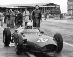 Vanwall VW14, the very last car. John Surtees at the Silverstone International Trophy in May 1961. He qualified the 2.6 litre engined 'Intercontinental Formula' car 6th, ran second, spun and finished 5th in Vanwalls' last race as a factory team