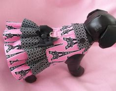 pink Eiffel tower doggy clothes