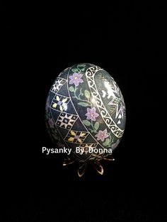 Pysanky Pysanka LARGE Duck Egg Pastel by PysankyByDonnaJ on Etsy