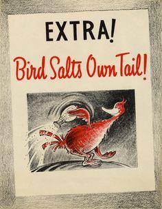 Bird Salts Own Tail!