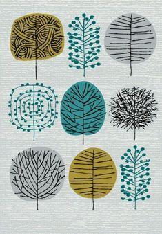 I Love Trees limited edition giclee print por EloiseRenouf en Etsy Doodle Art, Watercolor Art, Painting Abstract, Fabric Painting, Giclee Print, Print Patterns, Tree Patterns, Art Projects, Art Drawings