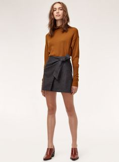 Check out the latest skirts from Aritzia and its exclusive brands. Shop mini, maxi, knee-length, flared, pleated and pencil skirts. Skirt Outfits, Cute Outfits, Corduroy Skirt, Skirt Fashion, Capsule Wardrobe, Pleated Skirt, Work Wear, Mini Skirts, How To Wear