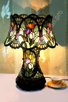 tiffany table lamp tulips