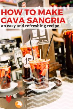 People in Spain don't always drink sangria when out at a bar or restaurant. Join in the fun with this easy recipe for cava sangria that's absolutely perfect on a hot summer day. Spanish Cuisine, Spanish Food, Summer Cocktails, Refreshing Drinks, Foodie Travel, Summer Recipes, Street Food, Tapas