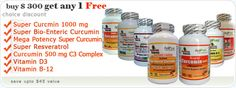 Specials Super Curcmin 1000 mg - Super Bio-Enteric Curcumin and more