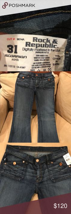 Rock & Republic jeans Size 31 Dark Blue style Scorpion - new with tags Rock & Republic Jeans