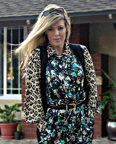 Pattern Mixing: Leopard and Floral  #animalprint