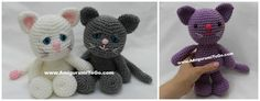 gratis free:Little Bigfoot Kitty A newest member of the Little Bigfoot gang LBF Kitty!     The one that stands is about 10 inches tall. It is designed the exact same way all the other LBF animals are designed in a permanent standing position with a basic stuffed face and yarn eyes.