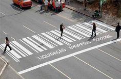 Unconventional zebra crossing.