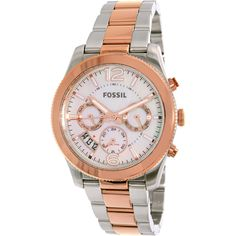 Fossil Womens Perfect Boyfriend ES4135 Two-Tone Stainless-Steel Fashion Watch