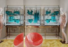 La Perla Milan Boutique designed by Roberto Baciocchi Lingerie Store Design, Milan Boutique, Design Boutique, Panty Party, Underwear Store, Retail Fixtures, Men Store, Commercial Design, Retail Design