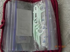 A quick project that helps keep you organized. Easy to toss from purse to purse, in the car, diaper bag, tote etc.