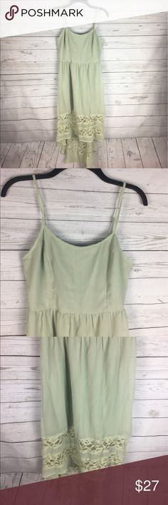 Band of Gypsies Dress | good condition | High/Low | Lace Detail on bottom | adjustable straps | slip underneath | 100% polyester | Band of Gypsies Dresses High Low