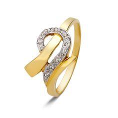 Δίχρωμο Δαχτυλίδι 9Κ με Ζιργκόν #ring #gold #jewellery