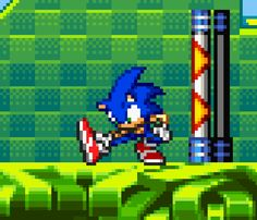 Animated Gif by Sonic The Hedgehog, Shadow The Hedgehog, Sonic Advance 2, Sonic 25th Anniversary, Japan Graphic Design, Sonic Dash, Cool Pixel Art, Nostalgia Art, Sonic Unleashed