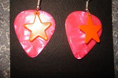 KITSCHY GUITAR PICK EARRINGS by thejewelrydream on Etsy, $6.99