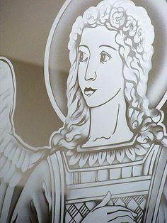 Sacred Art - Glass Work - The Studio of John the Baptist : sacredart.co.nz Blessed Virgin Mary, John The Baptist, Sacred Art, Glass Art, Cathedral, Aurora Sleeping Beauty, Statue, Studio, Disney Characters