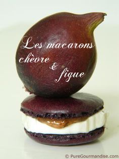 Salted macaron ... cheese with fig ... special but delicious ... so frenchy !!!