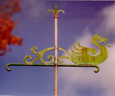 dragon weather vane. so. awesome. (and made in america!)