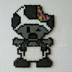 Zombie Toad from Mario - Hama perler beads, by Vodevila