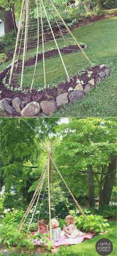 Sweetpea Teepee is so much fun to grow with your littles. – Living Willow P This Sweetpea Teepee is so much fun to grow with your littles. Living Willow PThis Sweetpea Teepee is so much fun to grow with your littles. Living Willow P Garden Playhouse, Kid Playhouse, Childrens Playhouse, Living Willow, Baumgarten, Garden Trees, Dream Garden, Garden Planning, Play Houses