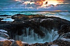 Well of Torah / Thor's Well is located on the Pacific coast at Cape Perpetua in Oregon