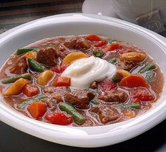 This easy recipe bakes in the oven, freeing you to tend to other matters. A dollop of tangy yogurt enhances the mellow flavor of the stew.
