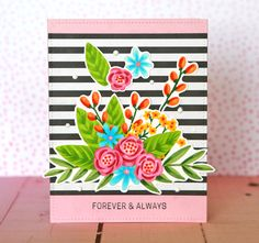See June kit Card Making Inspiration, Making Ideas, Wedding Anniversary Cards, Wedding Cards, Craftwork Cards, Cards For Friends, Card Sketches, Card Kit, Flower Cards