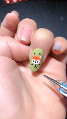 Simple nails art design video Tutorials Compilation Part 16 nailart Animal Nail Designs, Animal Nail Art, Nail Art Designs Videos, Nail Art Videos, Simple Nail Art Designs, Easy Nail Art, Bird Nail Art, Funky Nails, Trendy Nails