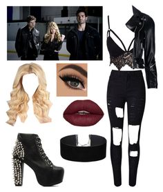 """Part of Derek's Pack"" by directioner-for-life-23072010 ❤ liked on Polyvore featuring WithChic, Club L, R13, Jeffrey Campbell, Miss Selfridge, TeenWolf, derekhale, pack and werewolf"