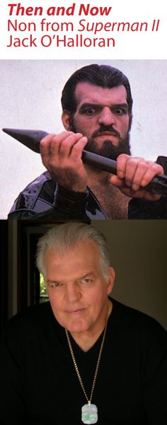 "Then and Now: Non from ""Superman II"" Jack O'Halloran #superman #non #villians #krypton #thenandnow"