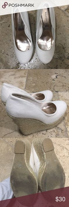 Cream espadrille wedges Madden girl Excellent used condition Worn twice Madden Girl Shoes Wedges