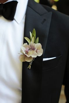 Beautiful boutonniere - Bel Air Garden Wedding from Gia Canali Photography