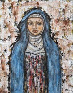 St. Monica by Rain Ririn. Feast Day Aug. 27. Patron saint of mothers