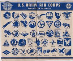 1945 Army Air Corps Squadron Insignia | Flickr - Photo Sharing!